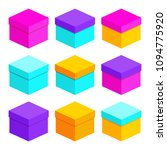 set of multicolored  colourful... | Shutterstock .eps vector #1094775920