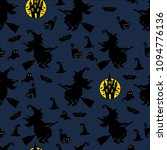 abstract seamless halloween... | Shutterstock .eps vector #1094776136