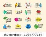 summer vacations   colorful... | Shutterstock .eps vector #1094777159