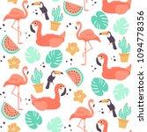 tropical seamless pattern  ...   Shutterstock .eps vector #1094778356