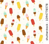 ice cream seamless pattern... | Shutterstock .eps vector #1094778578