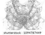 low poly mosaic grayscale... | Shutterstock . vector #1094787449