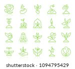 green sprout thin line icons... | Shutterstock .eps vector #1094795429