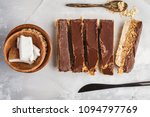 coconut oat raw vegan bars. top ... | Shutterstock . vector #1094797769