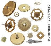 Clock Gears Mechanism Isolated...