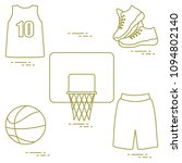 sports uniform and equipment... | Shutterstock .eps vector #1094802140