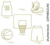 sports uniform and equipment...   Shutterstock .eps vector #1094802140