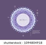 sphere. 3d abstract composition.... | Shutterstock .eps vector #1094804918