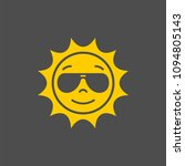 sun in sunglasses vector sign.... | Shutterstock .eps vector #1094805143