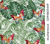 floral pattern and butterfly... | Shutterstock .eps vector #1094805449