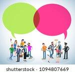 flat design speech bubble ...   Shutterstock .eps vector #1094807669