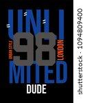 london unlimited dude t shirt... | Shutterstock .eps vector #1094809400
