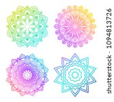 a set of bright mandalas with... | Shutterstock . vector #1094813726