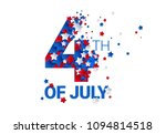 fourth of july background  ... | Shutterstock .eps vector #1094814518