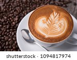 latte or cappuccino with frothy ... | Shutterstock . vector #1094817974