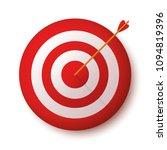 target with arrow  standing on... | Shutterstock .eps vector #1094819396