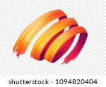 color brushstroke oil or... | Shutterstock .eps vector #1094820404