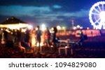 blurred people having sunset... | Shutterstock . vector #1094829080