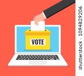 voting online concept. hand... | Shutterstock .eps vector #1094829206