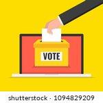 voting online concept. hand... | Shutterstock .eps vector #1094829209