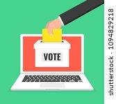 voting online concept. hand... | Shutterstock .eps vector #1094829218