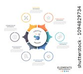 circular diagram divided into 6 ... | Shutterstock .eps vector #1094829734