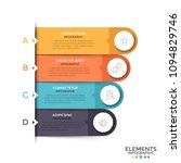 four rounded elements with thin ...   Shutterstock .eps vector #1094829746
