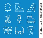 outline fashion icon set such... | Shutterstock .eps vector #1094831690