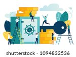 vector flat illustration ... | Shutterstock .eps vector #1094832536