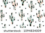 seamless pattern with abstract  ... | Shutterstock .eps vector #1094834009