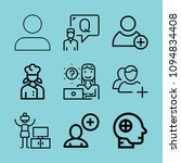 outline people icon set such as ... | Shutterstock .eps vector #1094834408