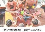 happy friends having fun... | Shutterstock . vector #1094836469