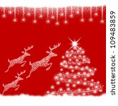 red christmas background with... | Shutterstock . vector #109483859