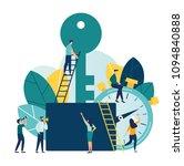 vector flat illustration ... | Shutterstock .eps vector #1094840888