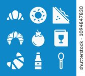 set of 9 food filled icons such ... | Shutterstock .eps vector #1094847830