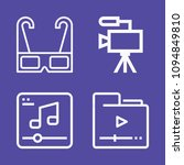 set of 4 movie outline icons... | Shutterstock .eps vector #1094849810