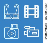 set of 4 movie outline icons... | Shutterstock .eps vector #1094850230