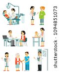 set of doctors and patients in... | Shutterstock .eps vector #1094851073