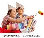 repair home women holding color ...   Shutterstock . vector #1094853188