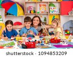 painting projects for kids in... | Shutterstock . vector #1094853209