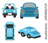 blue car vector illustration | Shutterstock .eps vector #1094856719