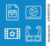 set of 4 movie outline icons... | Shutterstock .eps vector #1094859230