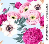 seamless pattern with peony and ... | Shutterstock .eps vector #1094868266
