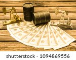 barrels of oil  us dollars ... | Shutterstock . vector #1094869556