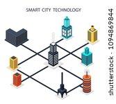 smart city. data center ... | Shutterstock .eps vector #1094869844