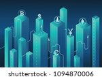 isometric neon background... | Shutterstock .eps vector #1094870006