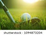blurred golf club and golf ball ... | Shutterstock . vector #1094873204