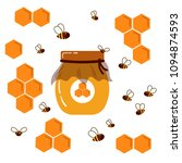 icon bee honeycomb and glass... | Shutterstock .eps vector #1094874593