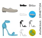 a variety of shoes cartoon...   Shutterstock .eps vector #1094877104
