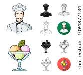 restaurant and bar cartoon... | Shutterstock .eps vector #1094877134